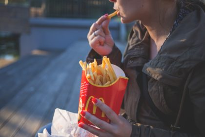 Eatting McDonald's fries