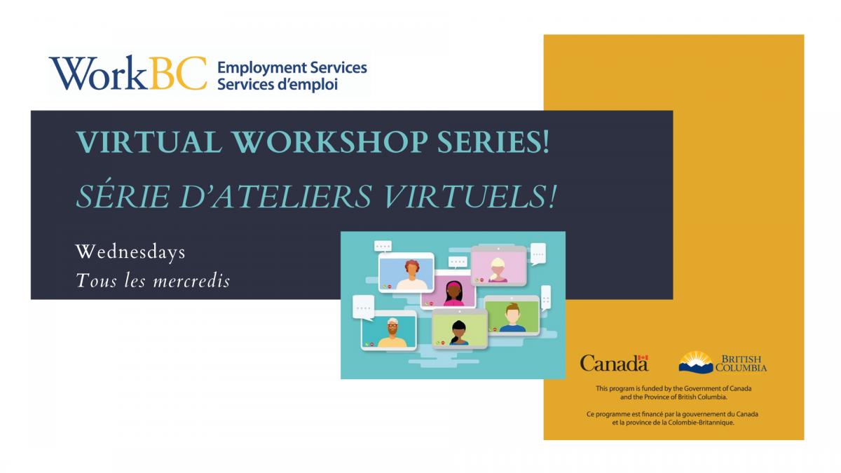 Virtual workshops 2021 at WorkBC Courtenay