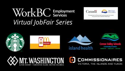 employer logos for virtual job fair WorkBC Courtenay